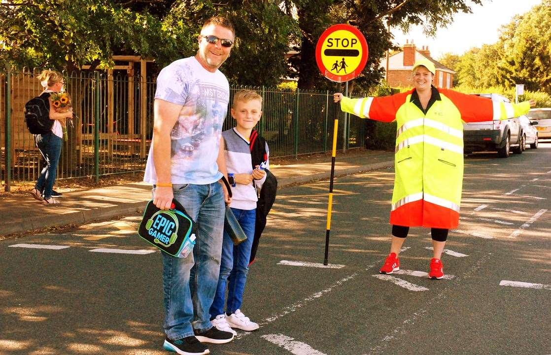 School crossing patrol Kirsty Perras has been welcomed by Gosberton Academy's staff, parents and pupils.