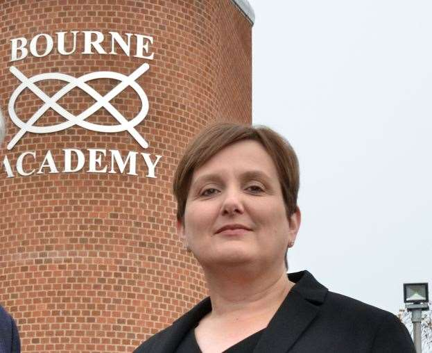 Lucy Conley, executive head teacher of Bourne Academy.Photo by Tim Wilson. SG-221118-003TW