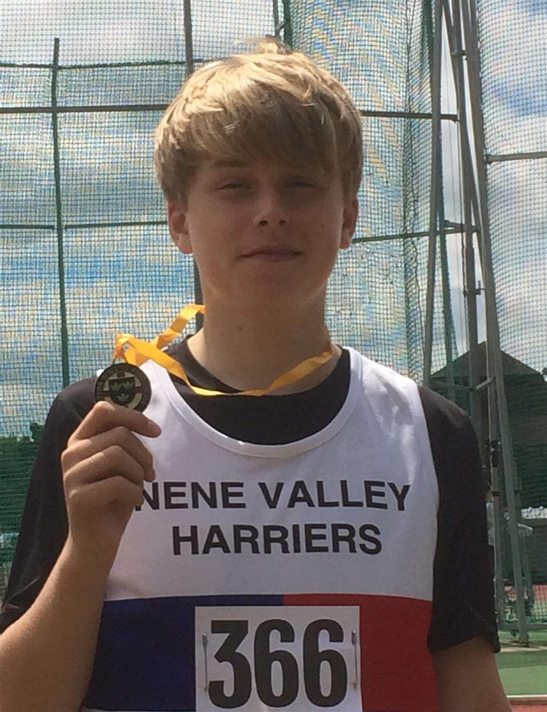 Lincolnshire Schools under-15 discus and shot put champion Donovan Capes. (2769499)