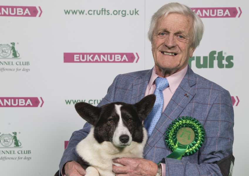 Peter Clifton from Spalding with Blobby, a Welsh Corgi which was the Best of Breed winner