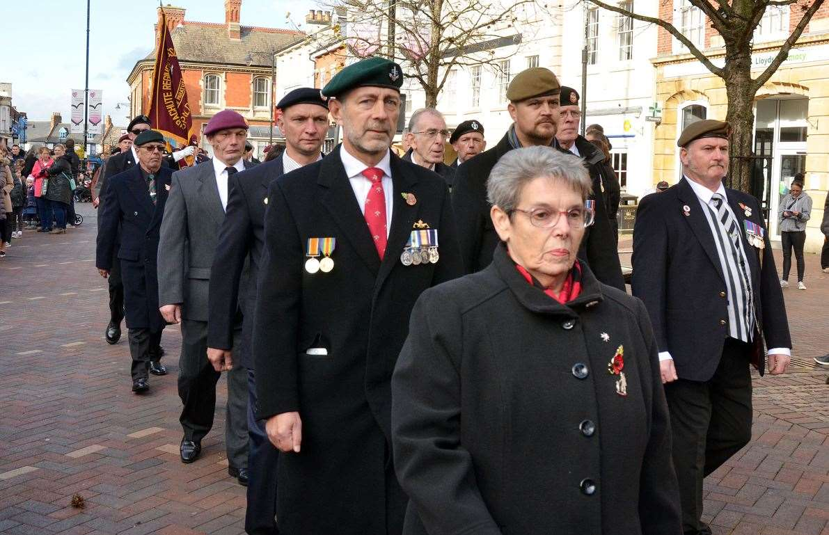 Spalding's 2018 Remembrance Sunday Parade in Market Place