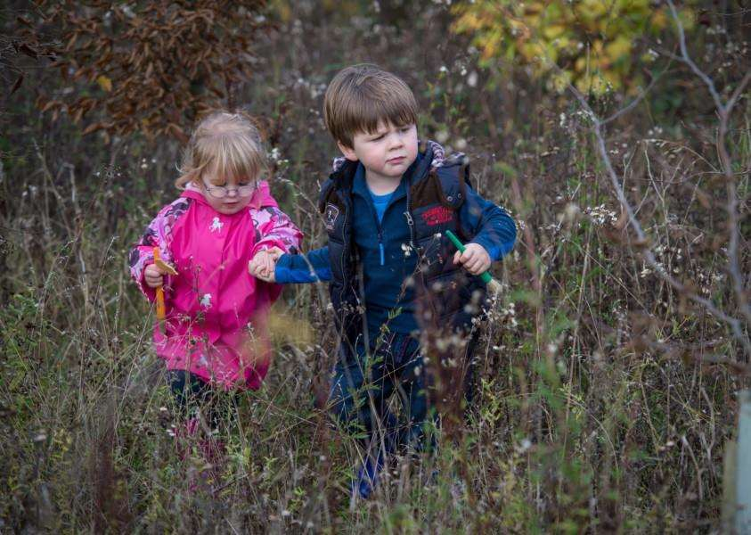 On the hunt for flowers in bloom in winter is a great way for the family to enjoy some fresh air. Photo by Matthew Roberts.