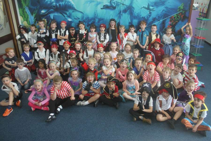 Pirate Day at Market Deeping Community Primary School.