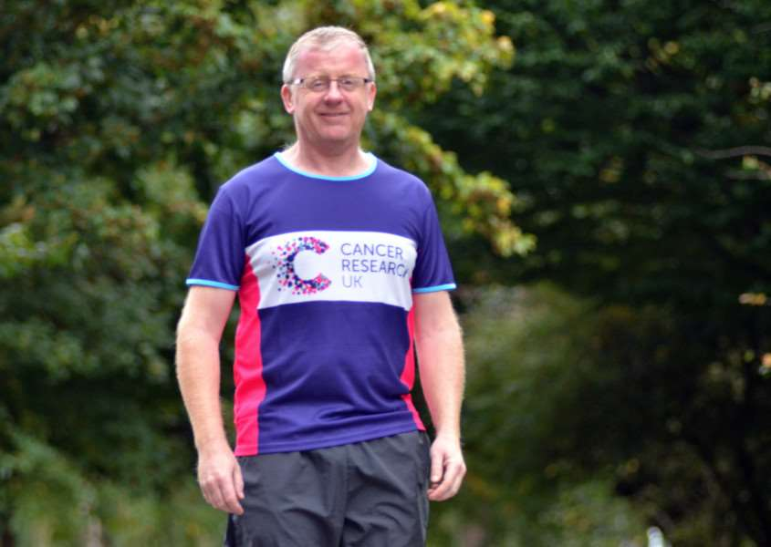 Fundraiser Duncan Wright will run in the New York Marathon. SG031017-257TW