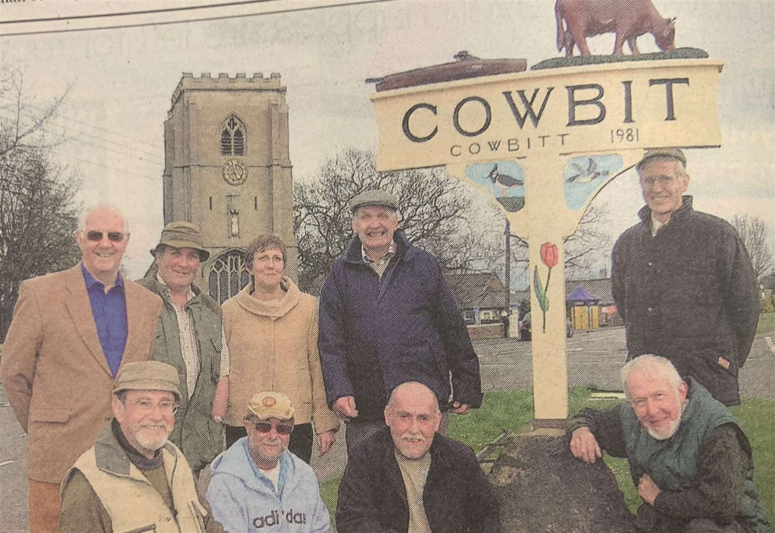 LOOKING BACK: Cowbit village sign is repaired and reinstated
