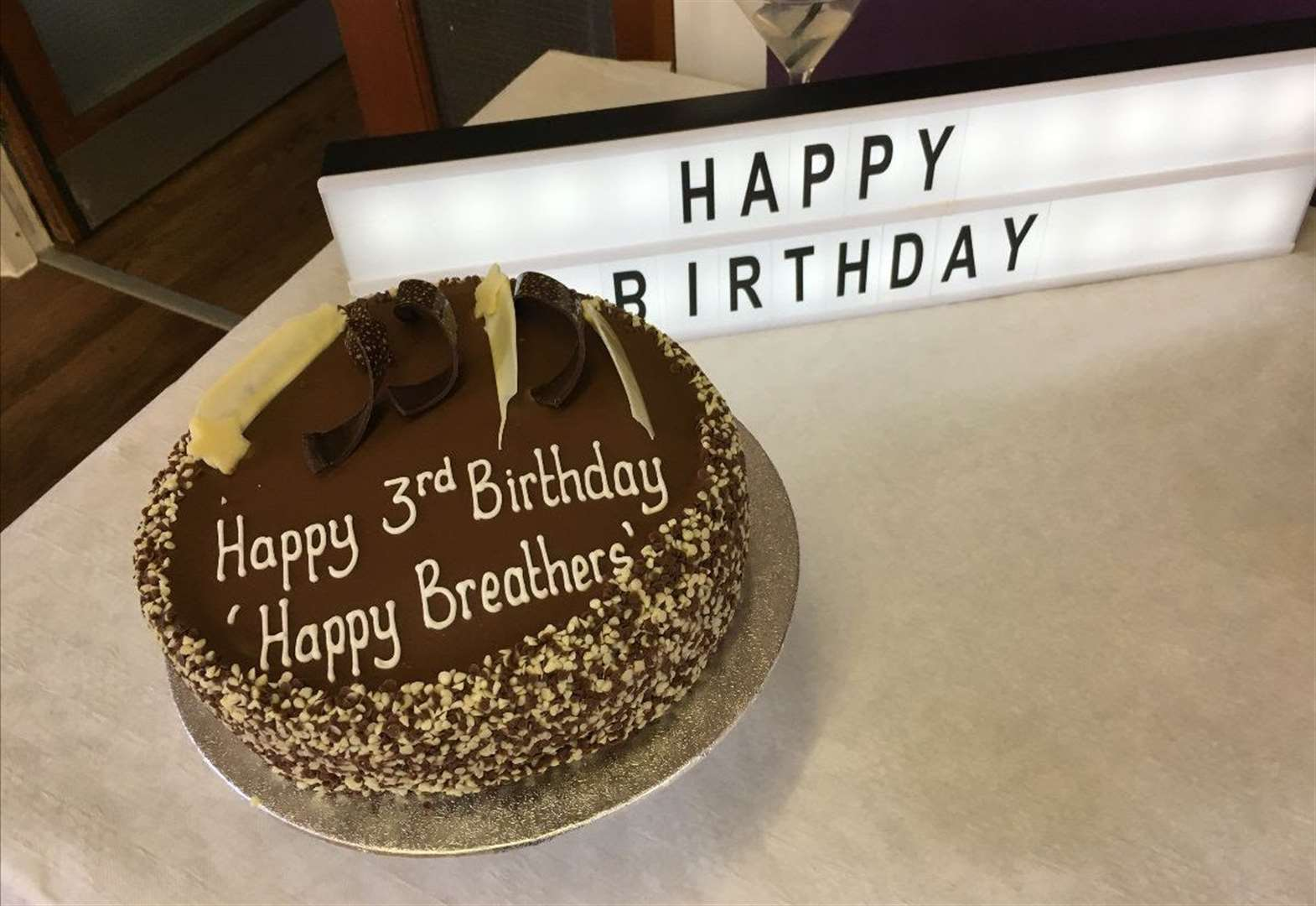 Third birthday for 'Happy Breathers' group