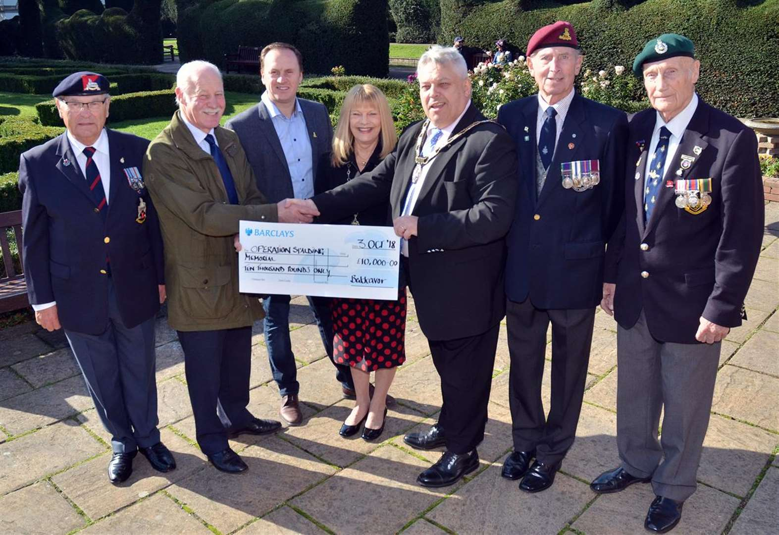 Final push to collect the last £5,000 for Spalding's WWII Memorial