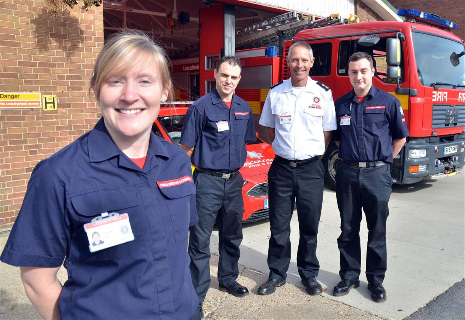 Amy sets the gold standard as firefighter in Donington