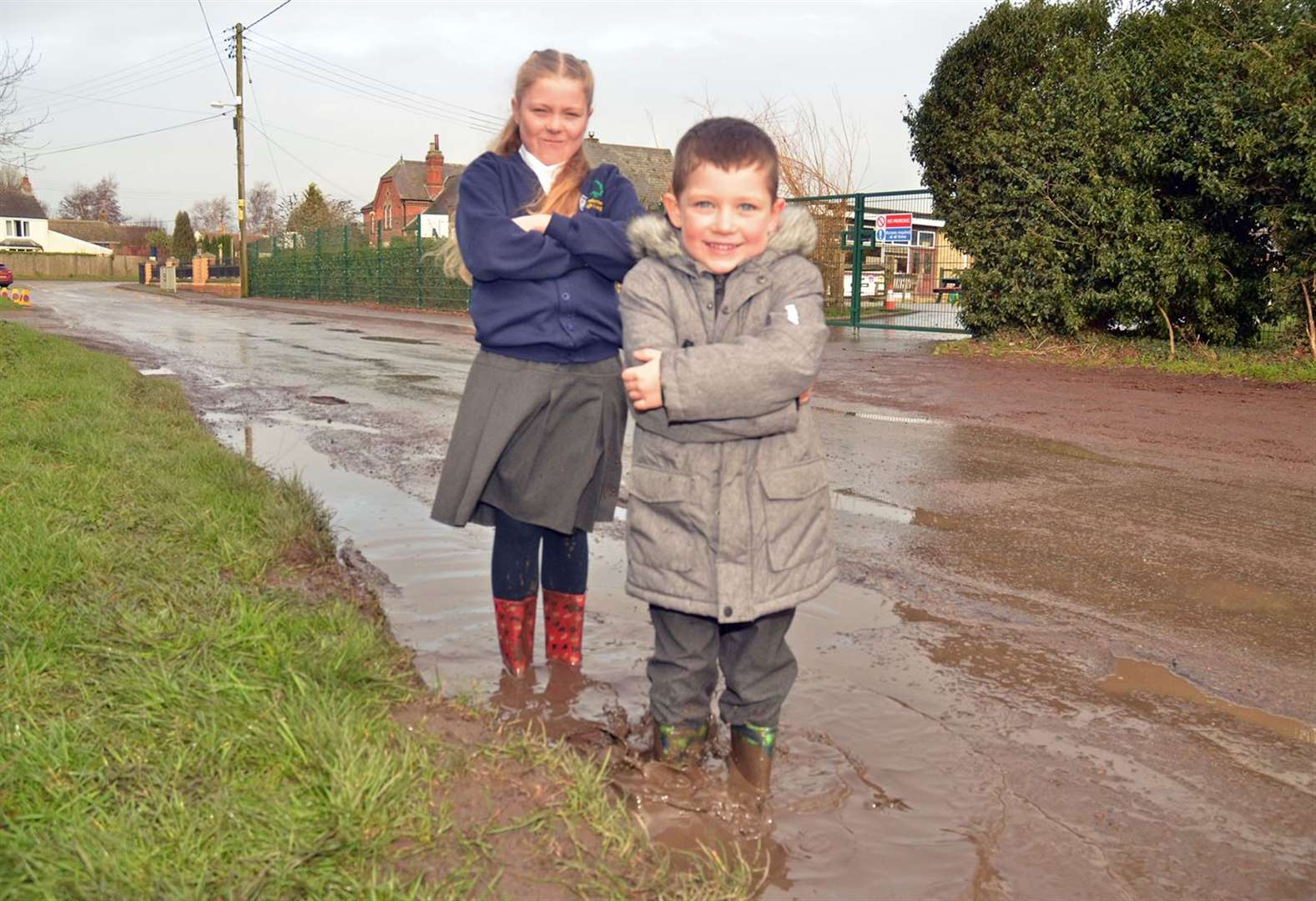 'Please fix crumbling street next to our primary school'