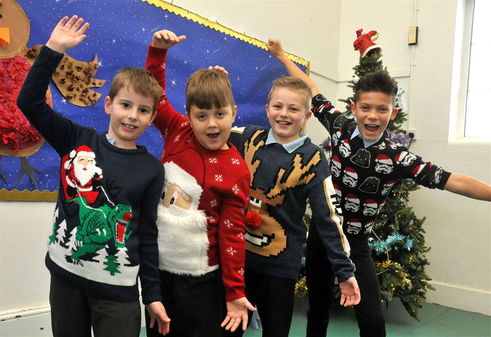 It's beginning to look a lot like Christmas at this primary school