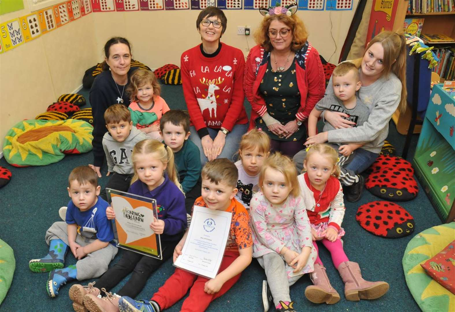 Town pre-school gets 'stamp of approval' for caring