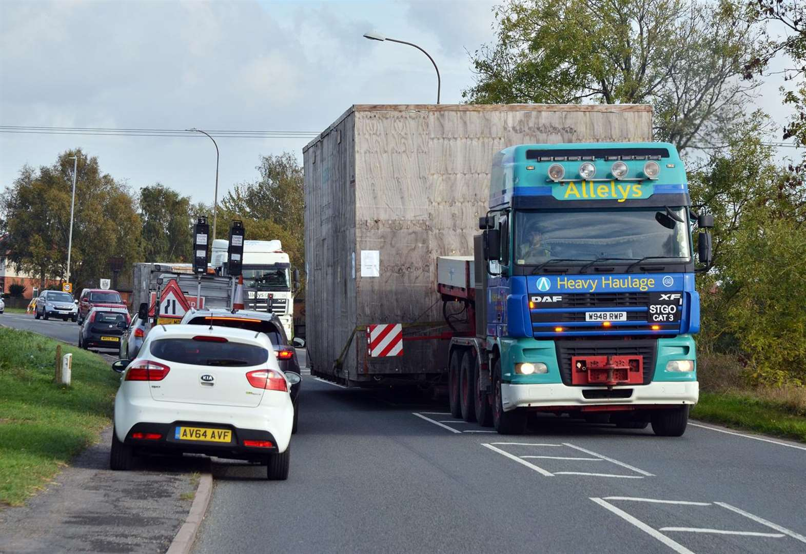 Traffic pulls over for abnormal load