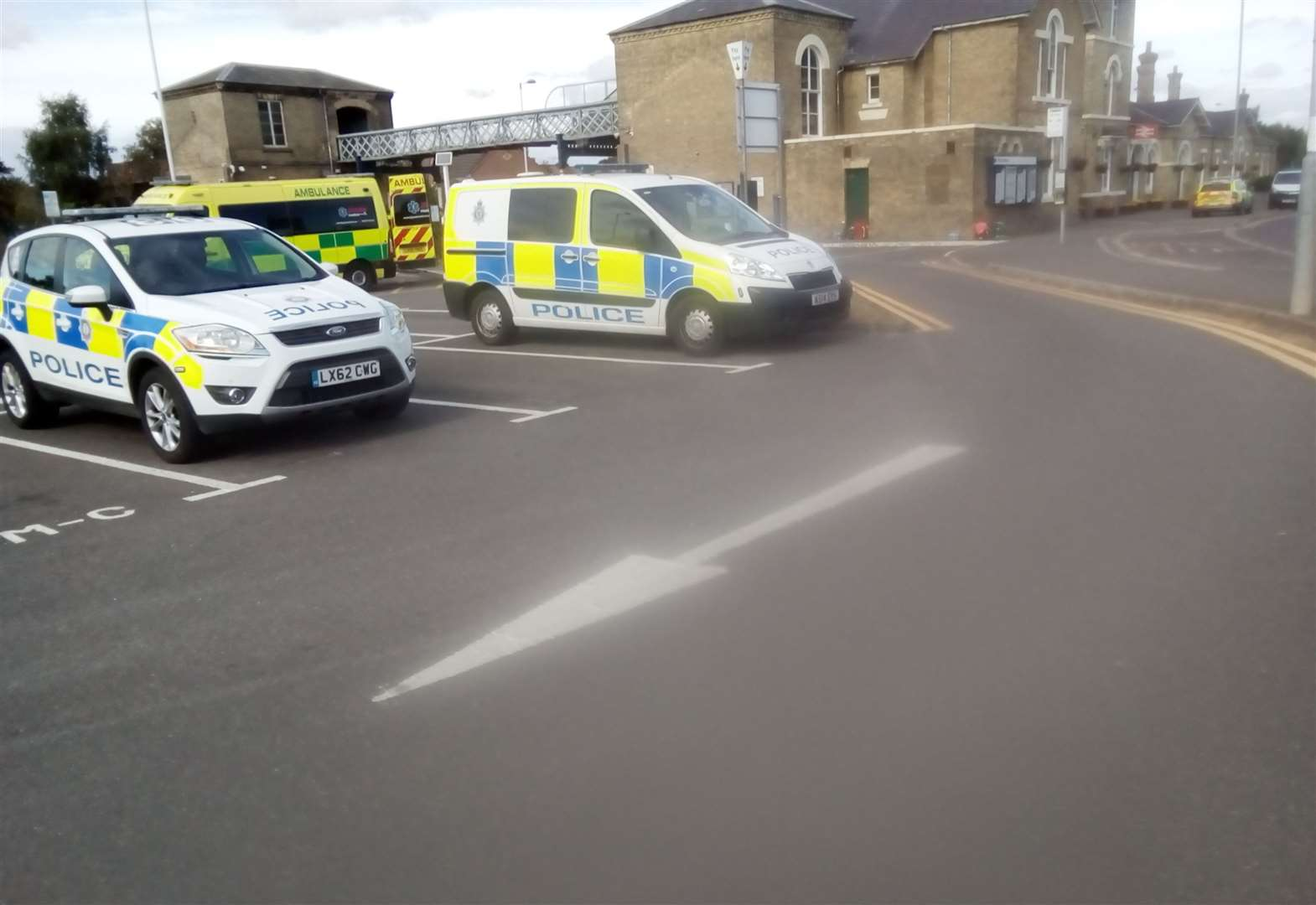 Full-scale response to railway station incident