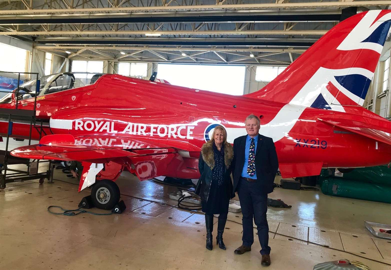 South Holland's Jan and Chris meet The Red Arrows