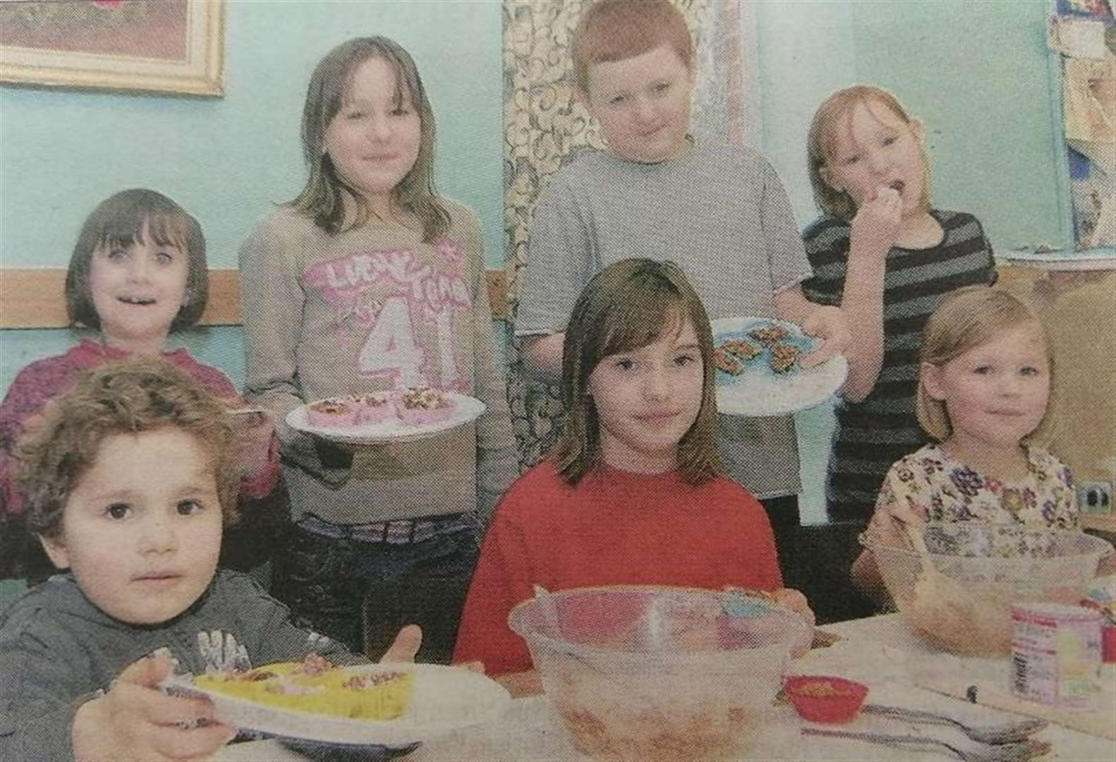 LOOKING BACK: Children learn cookery at club