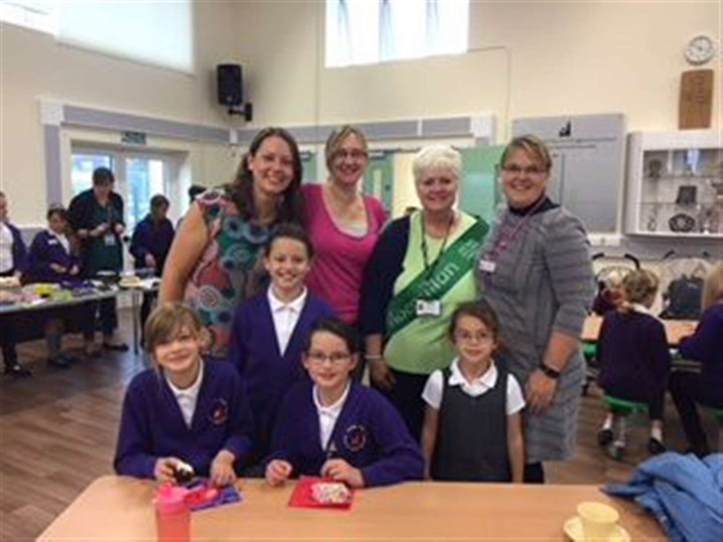 Spalding Parish Church of Engalnd Day School made £245 with Macmillan Coffee Morning