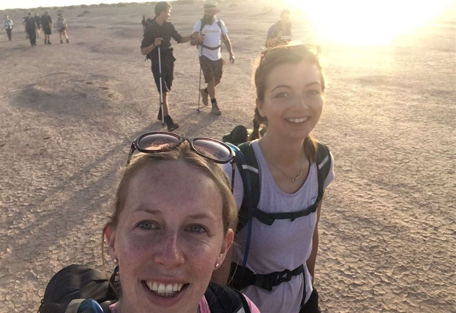 Sutterton girls' days in the desert for air ambulance charity