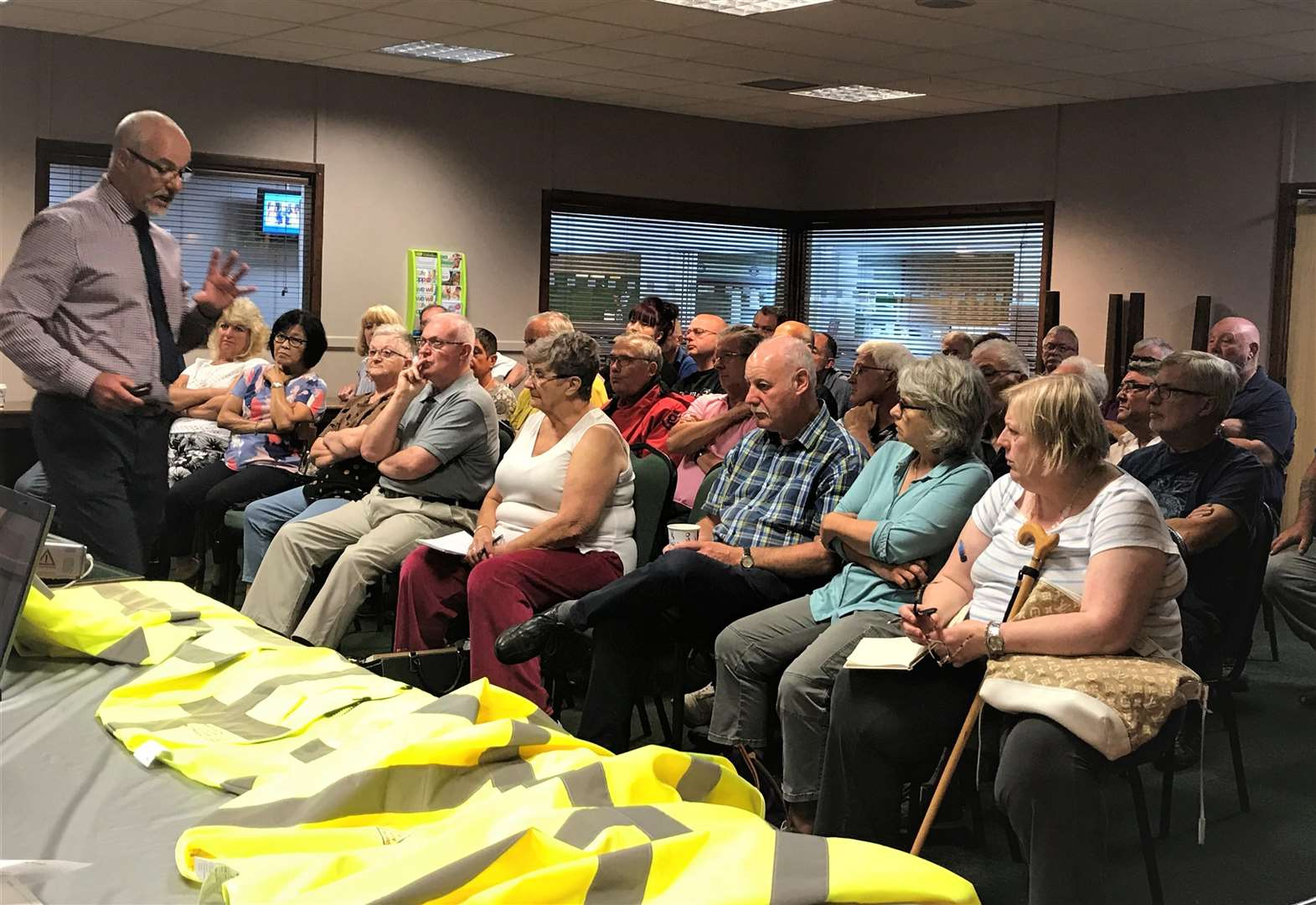 Volunteers turn out in force for first Speedwatch meeting