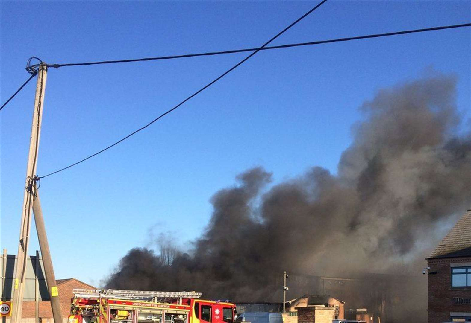 Firefighters tackling large blaze