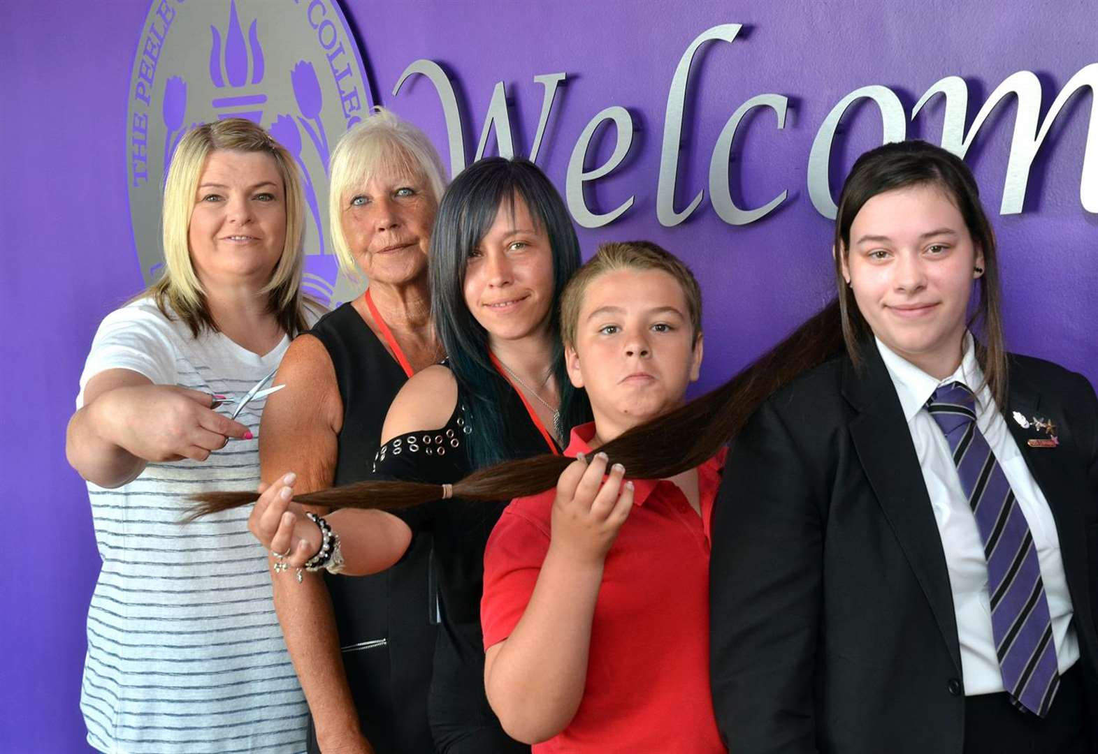 Long Sutton student's charity haircut