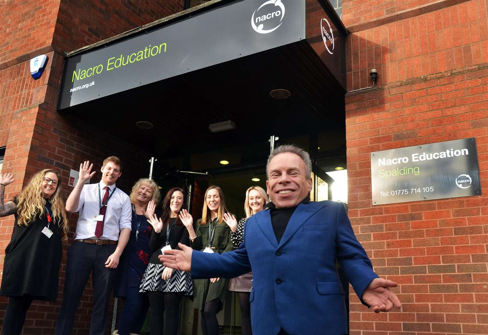 PICTURE SPECIAL: Harry Potter and Star Wars star Warwick visits new Nacro Education centre in Spalding