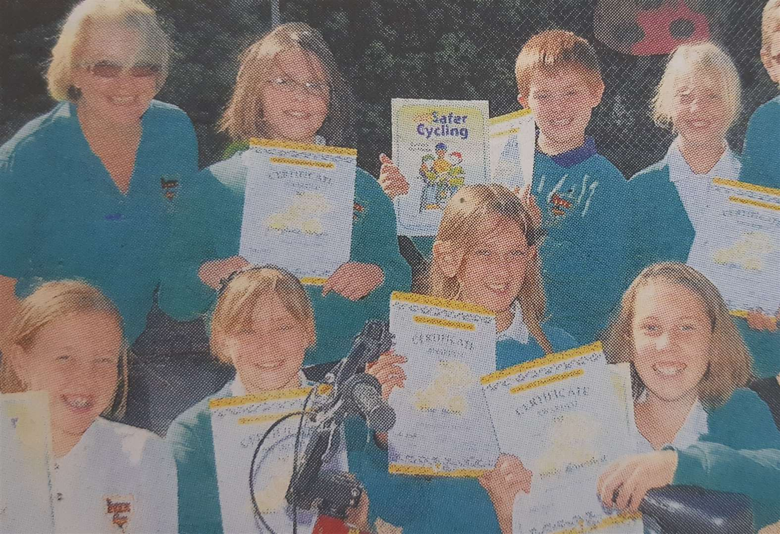 Pupils learnt bike lessons ten years ago