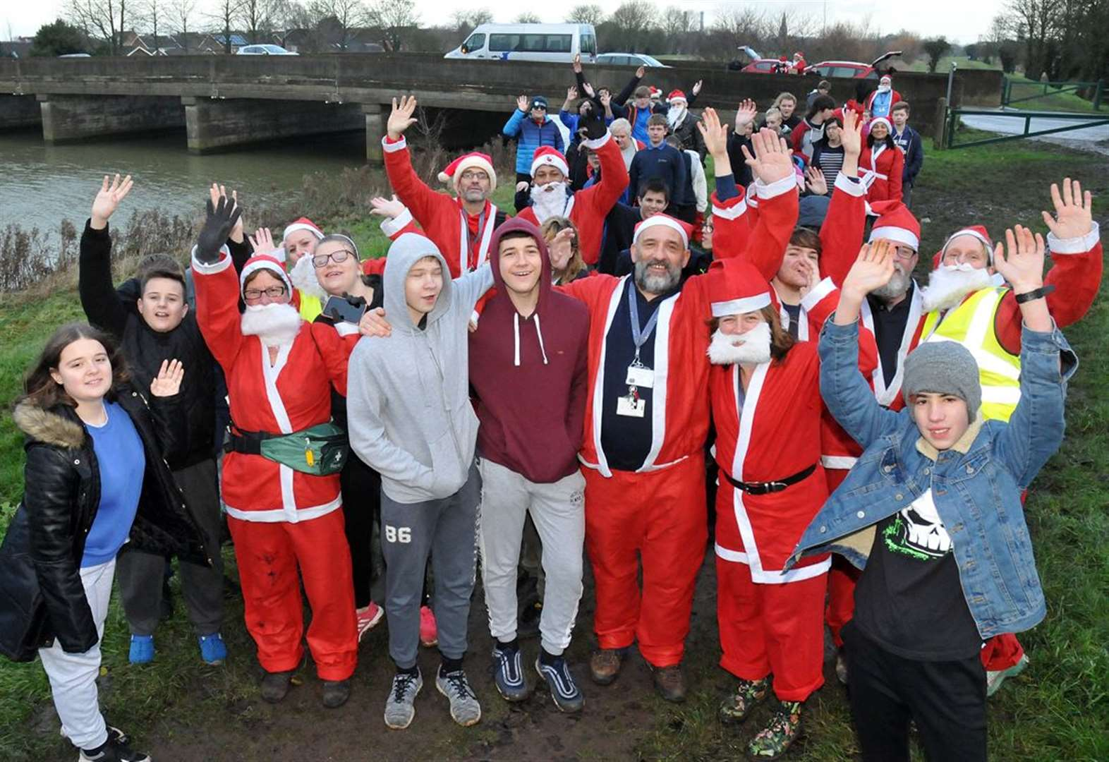 PHOTO GALLERY: School's out for a Santa fun run
