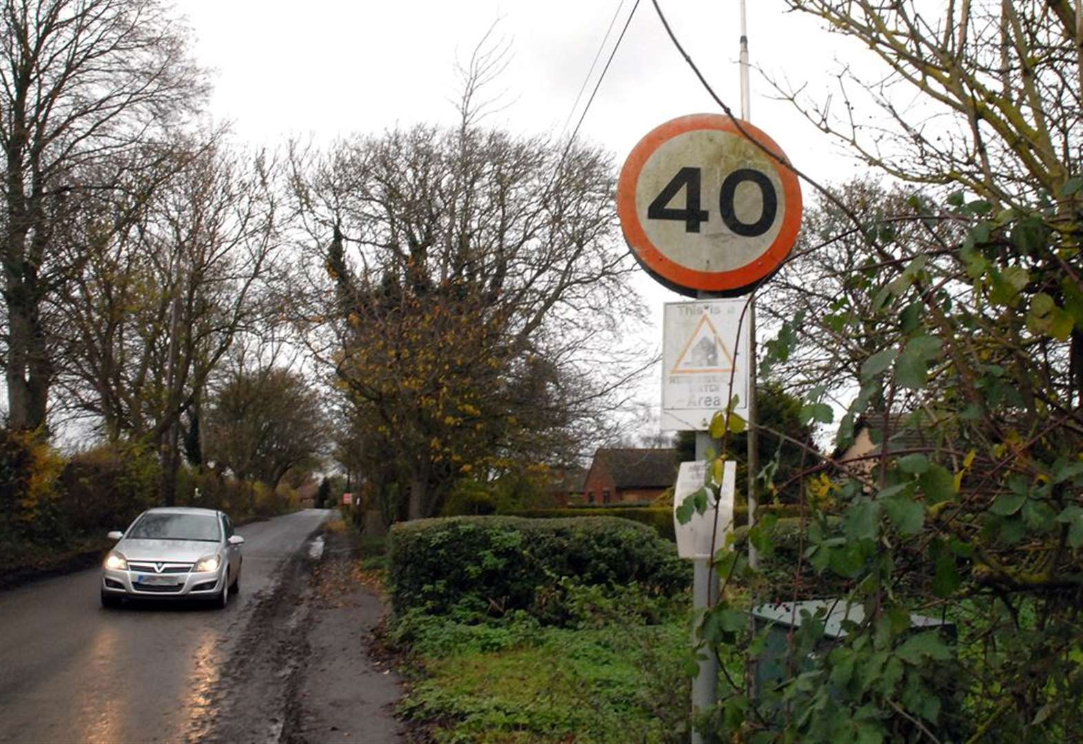 Bid to extend speed limit along village road