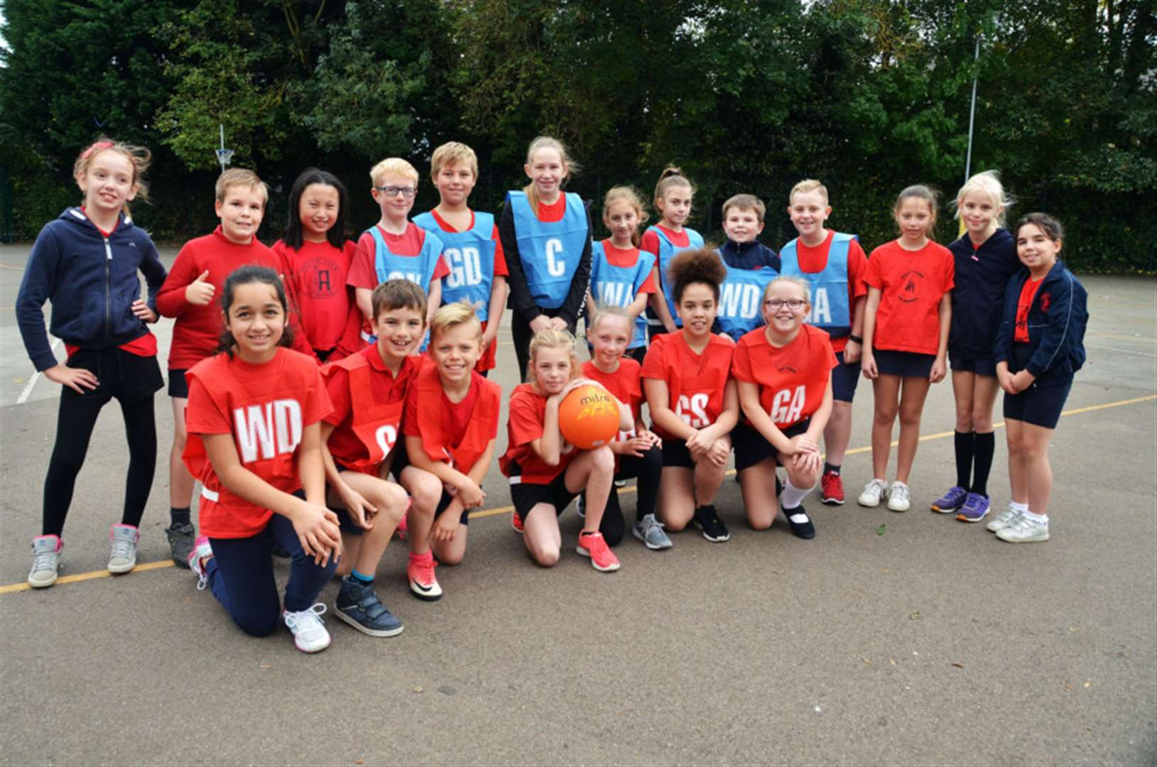 Netball fun at Crowland's South View Primary School