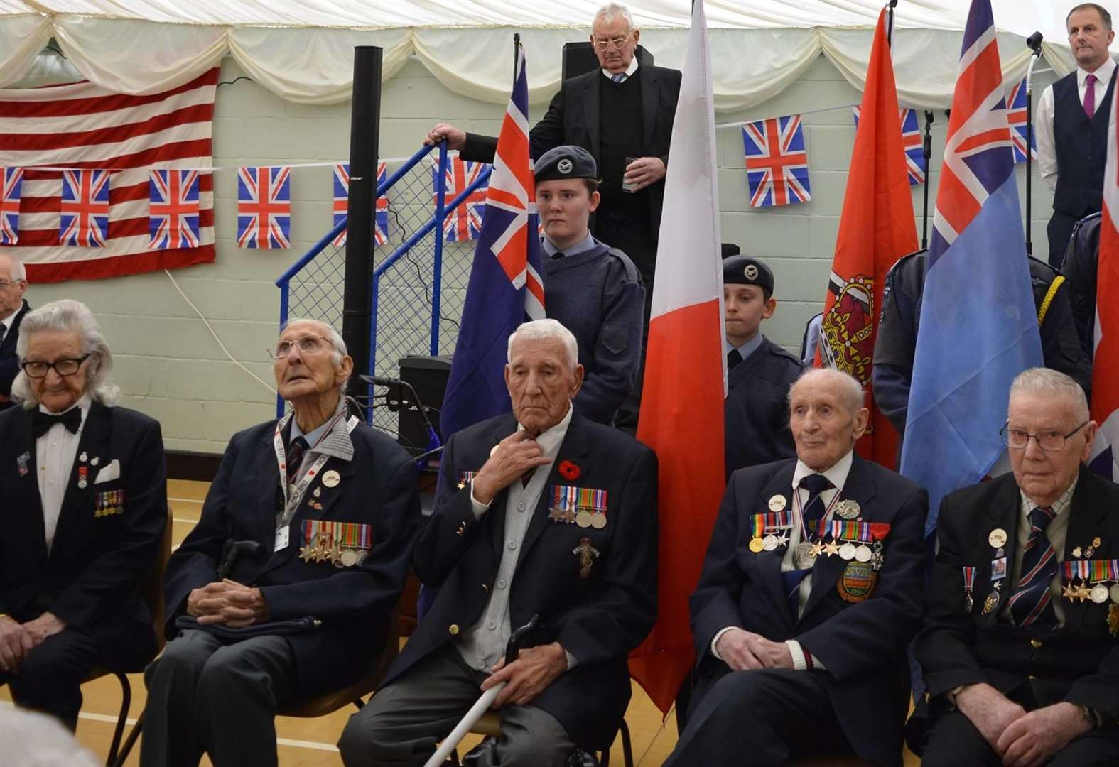 Thanksgiving party in Holbeach for World War II veterans