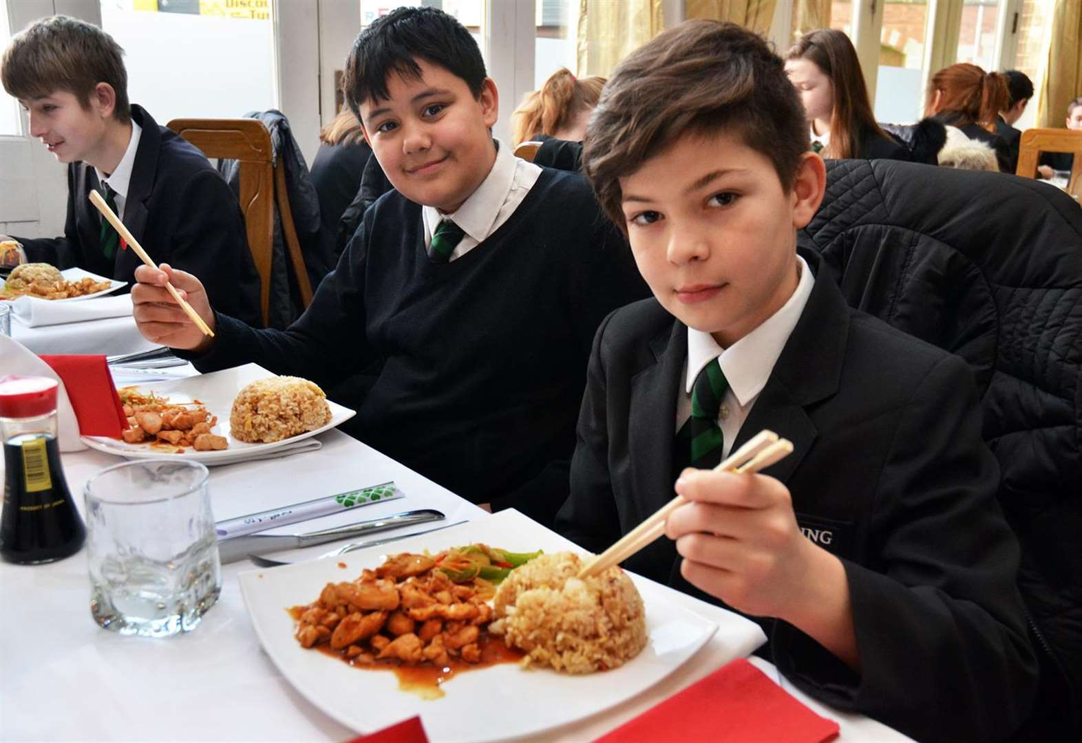 PICTURE GALLERY: Spalding Academy students enjoy Japanese food treat