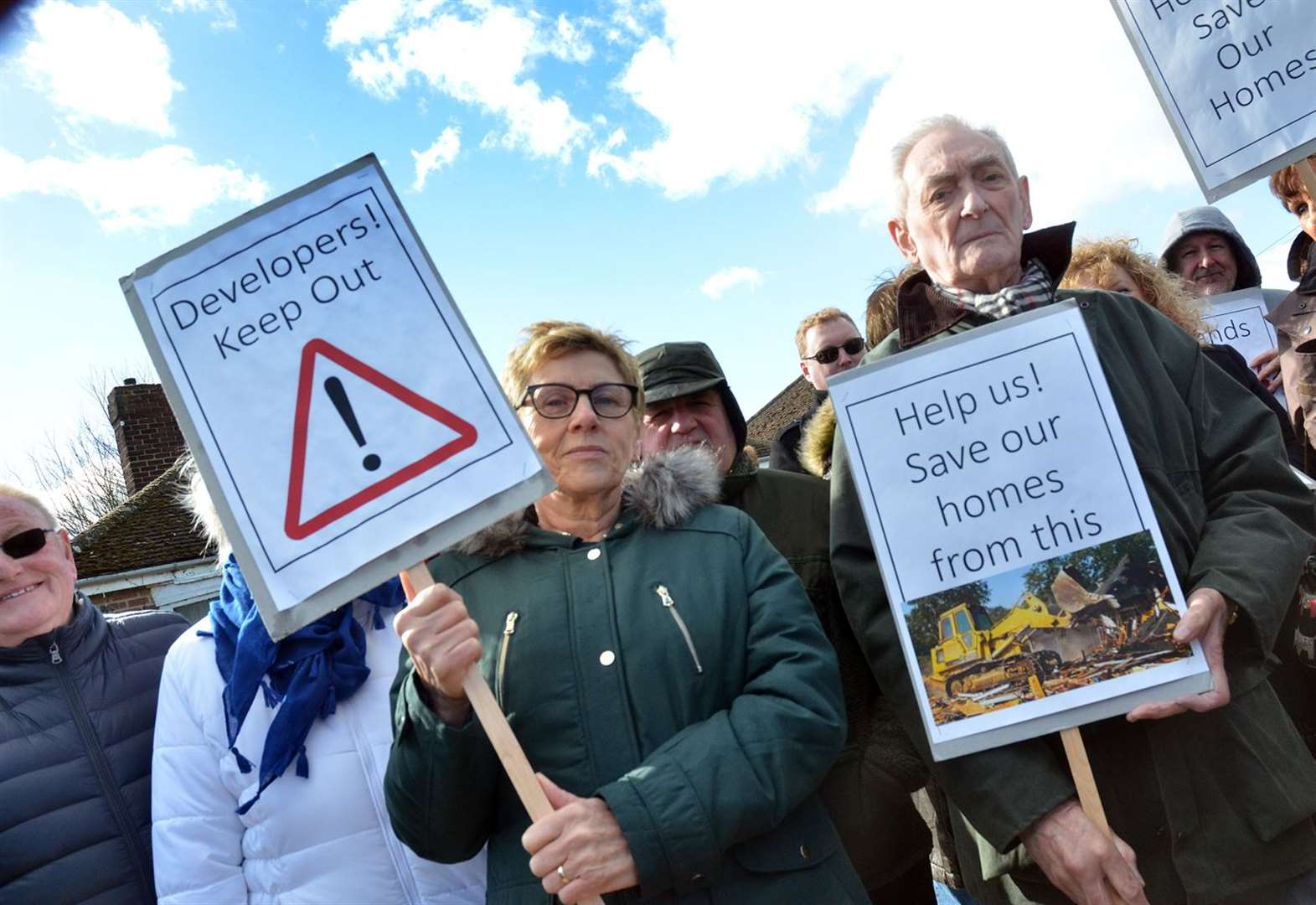 Protest over plans to demolish Spalding homes for new relief road