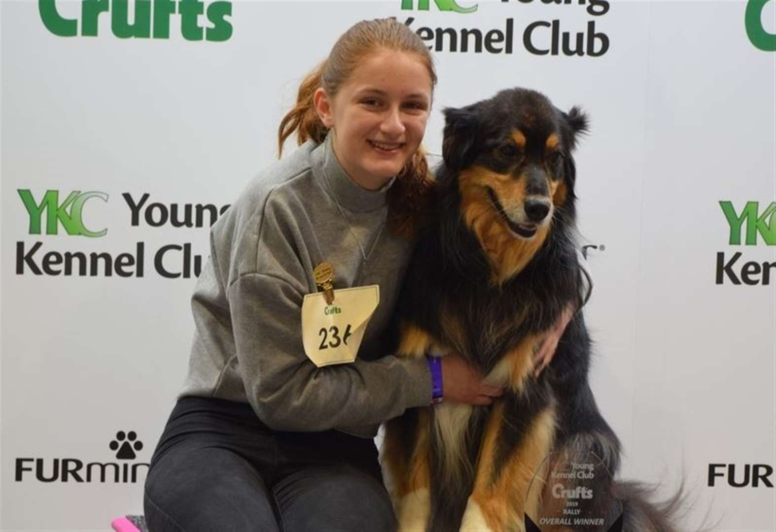Lara and Browse are a winning team at this year's Crufts
