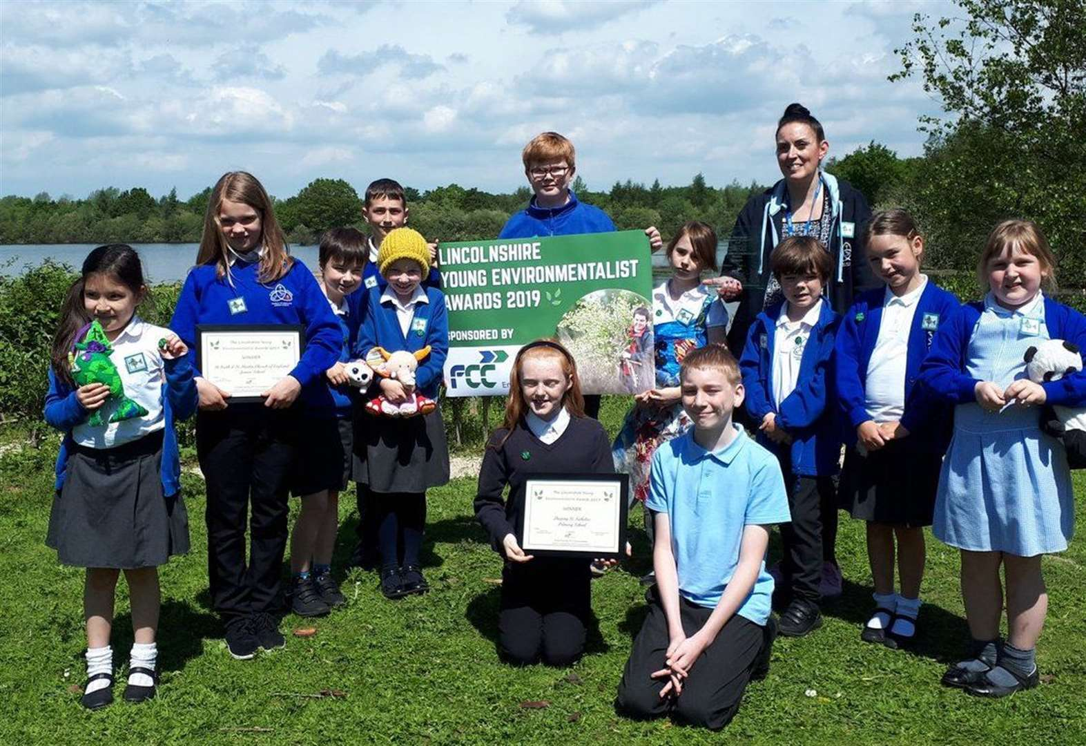 Green award for eco-friendly pupils at Deeping St Nicholas Primary School