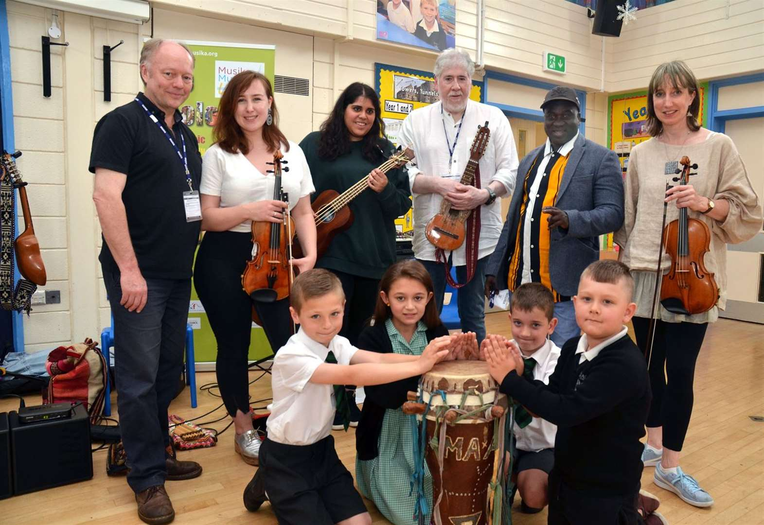 Musicians from around the world entertained young audience