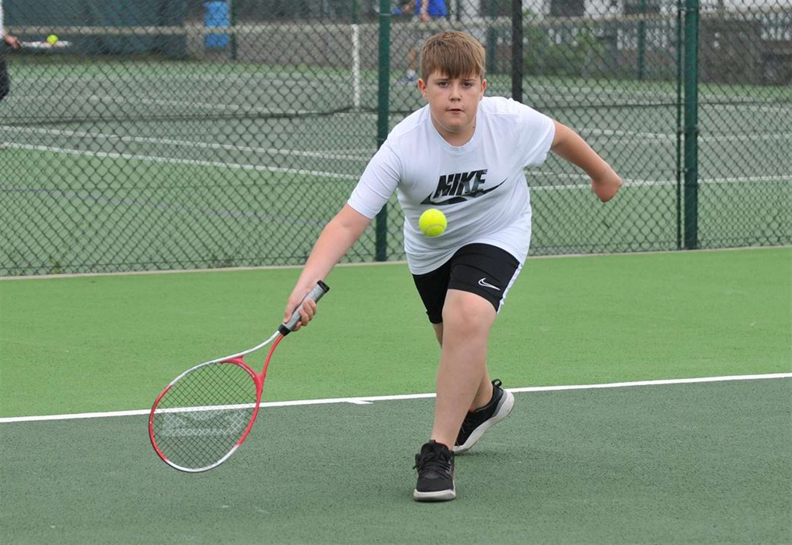 Tennis club holds open day