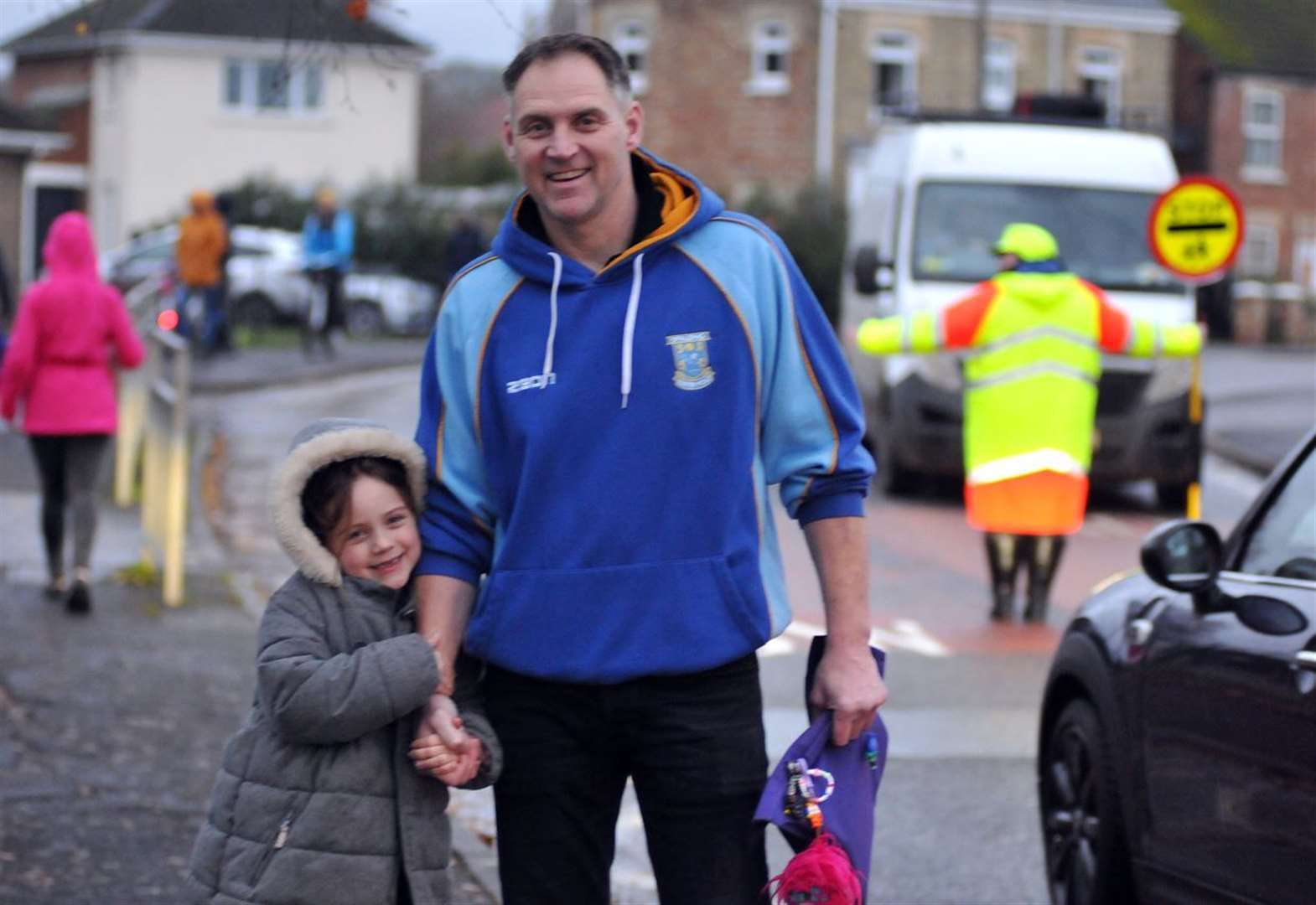 Dad calls time on abuse to school lollipop patrols
