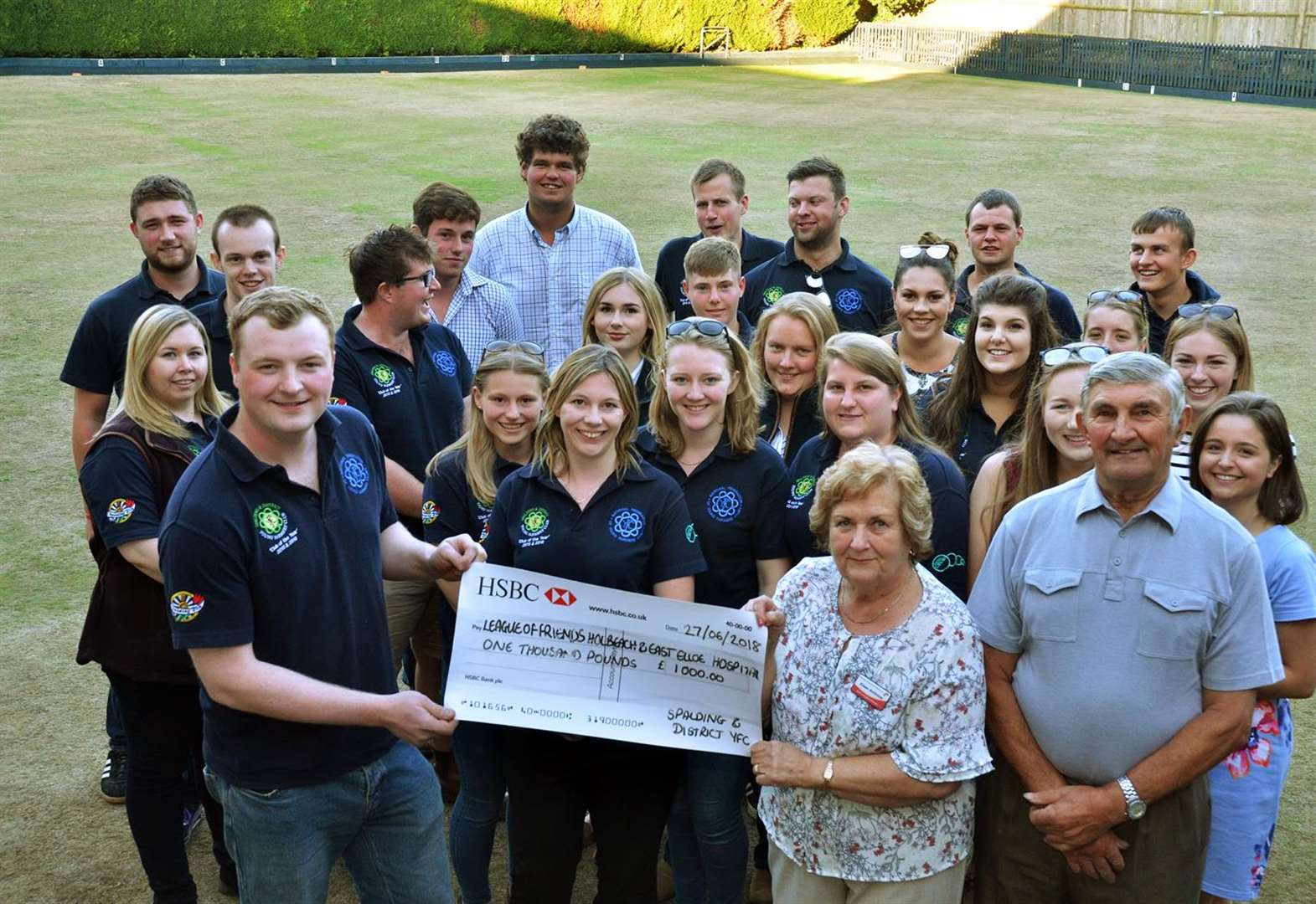 Holbeach Hospital cheque boost from Spalding Young Farmers