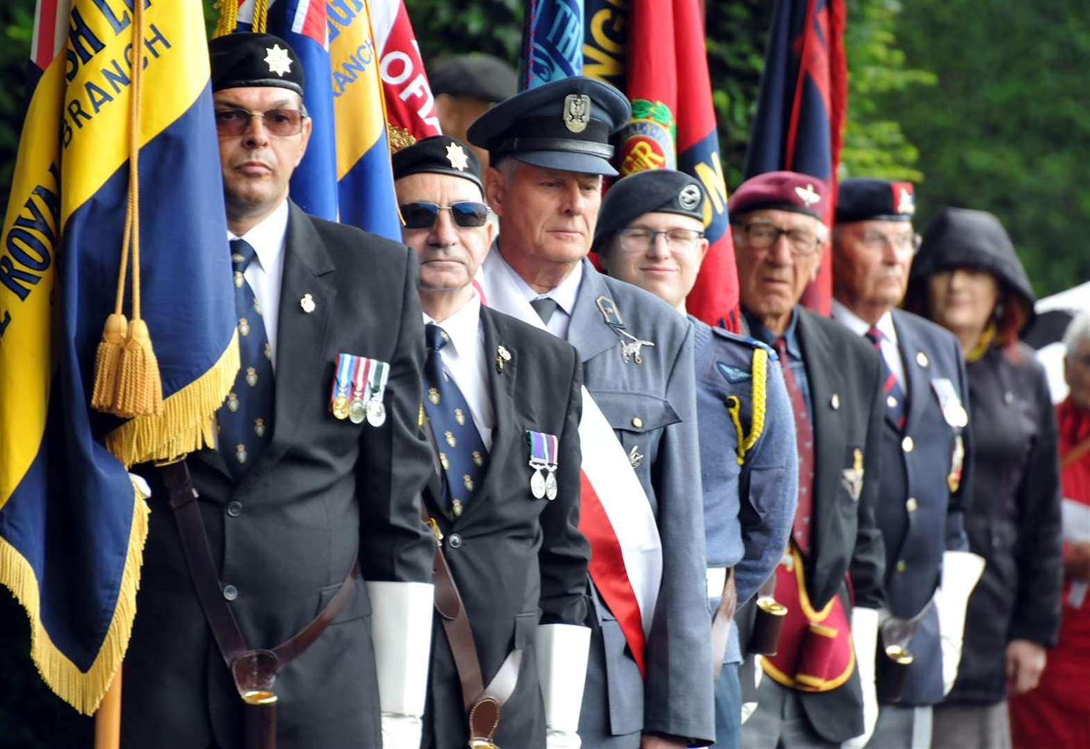 Spalding's VJ Day parade and service at Ayscoughfee