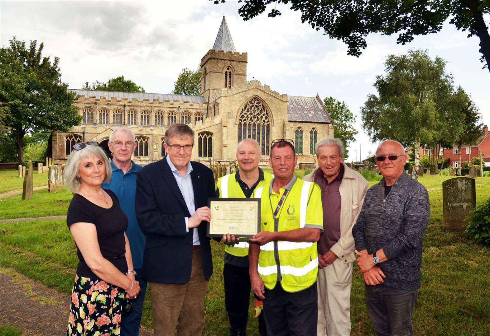 Environmental prize for Algarkirk Community Payback Team