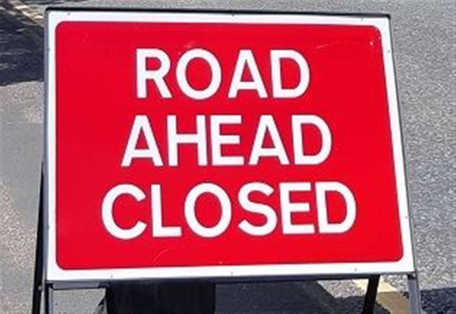 Road closure means traffic is forced to divert