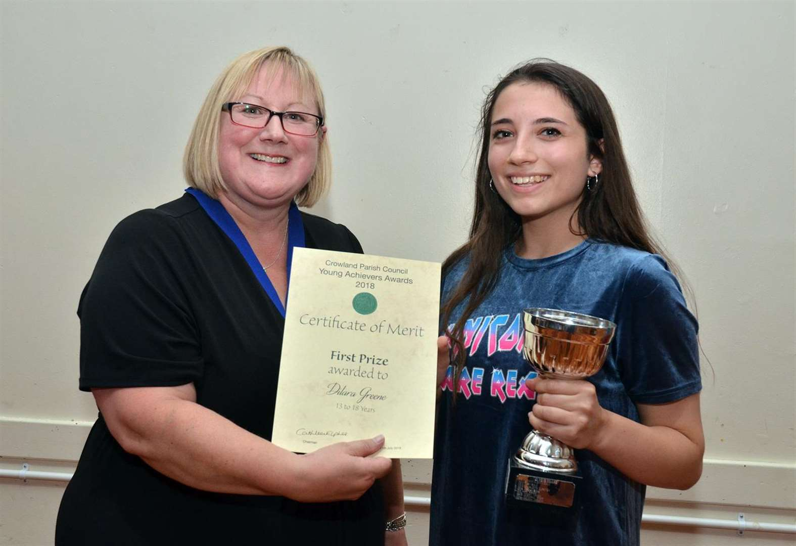 Special Crowland student Dilara sings in memory of tragic Kevin