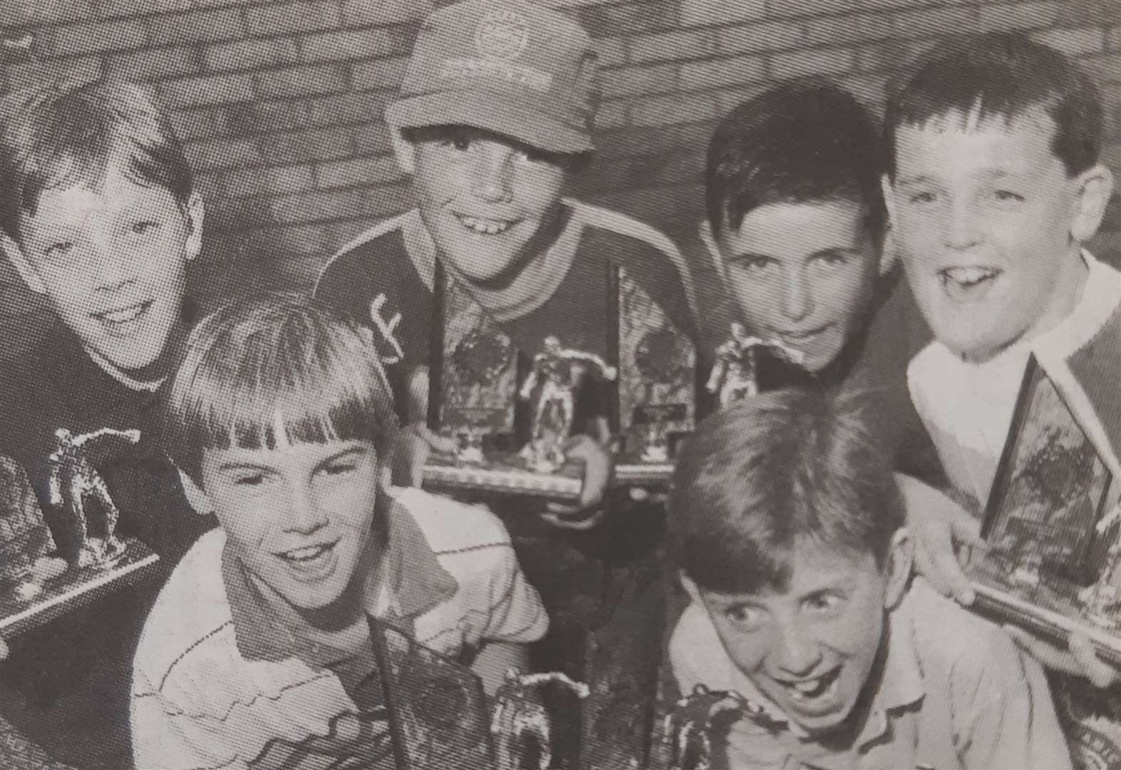 NOSTALGIA: Young footballers pictured 25 years ago