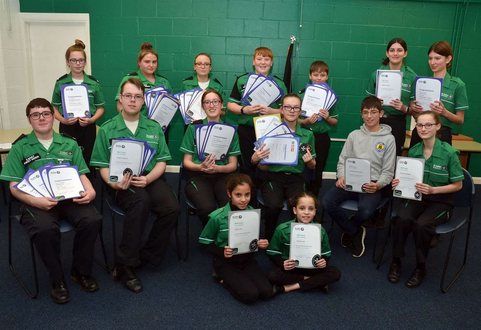 Star St John cadets collect their awards
