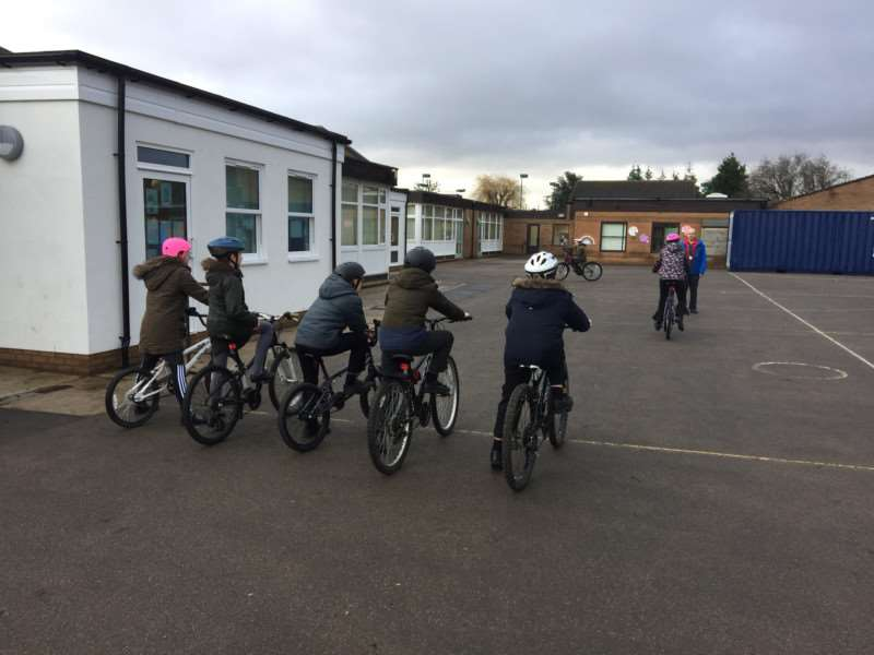 Bikeability at Spalding Parish Church of England Day School
