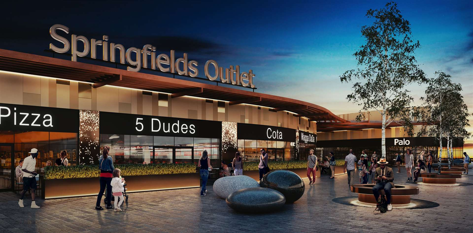 A vision of the expanded Springfields Retail Outlet