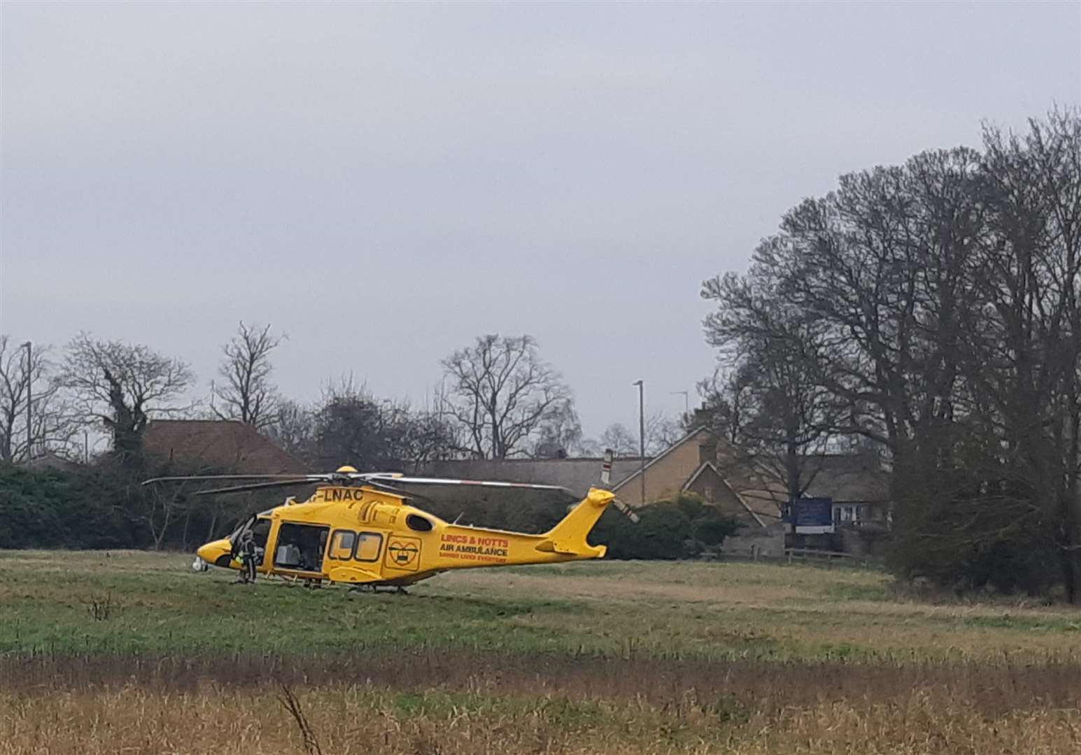 A Lincs & Notts Air Ambulance.