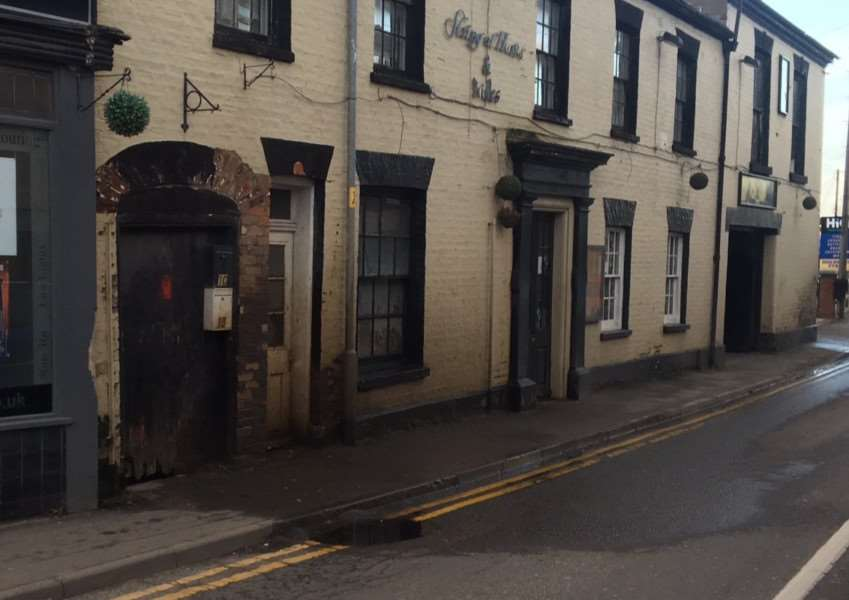 DRAIN ISSUE: Flooding caused by a blocked or damaged drain outside The String of Horses pub in Boston Road South, Holbeach. Photo supplied.