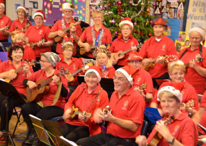 Spalding Ukulele Orchestra will be performing at Broad Street Methodist Church at noon this Saturday (December 9) . (SG181215-205TW).