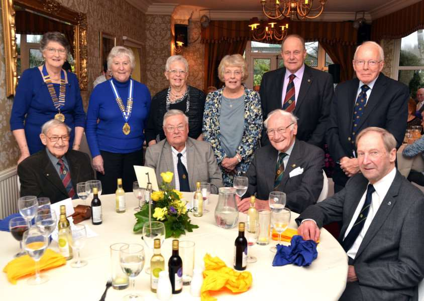 Spalding Ladies Probus officers with top table guests. SG100118-207TW